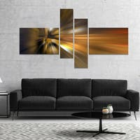Designart 'Glowing Brown Focus Light' Large abstract art