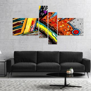 Designart 'Colorful Abstract Illustration' Abstract Canvas Art Print