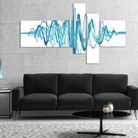 Designart 'Blue Circled Waves' Abstract Canvas art print