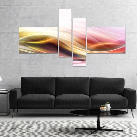 Designart 'Elegant Light Color Pattern' Abstract Canvas art print