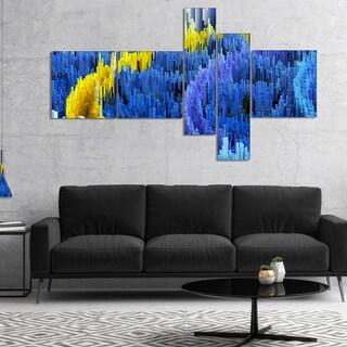 Designart 'Macro Render Structure Blue Yellow' Canvas Art Print