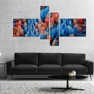 Designart 'Macro Render Structure Blue Red' Canvas Art Print