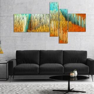 Designart 'Macro Render Structure Yellow Orange' Canvas Art Print