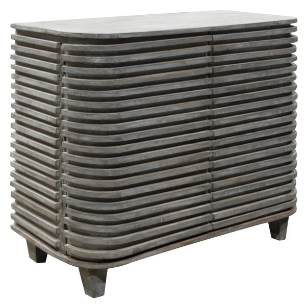 Bengal Manor Mango Wood Curved Slat Cabinet