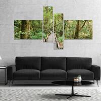 Designart 'Walk Way in Deep Forest' Landscape Photo Canvas Art Print