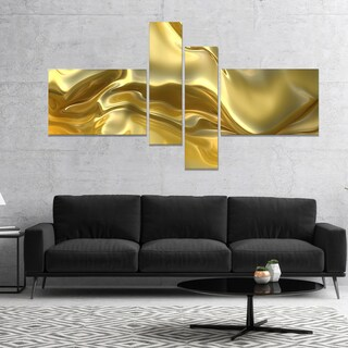 DesignArt 'Golden Cloth Texture' Abstract Canvas art print