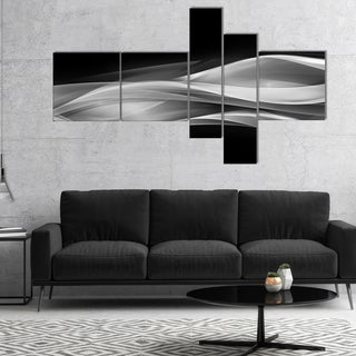 Designart 'Glittering Silver Pattern' Abstract Canvas art print