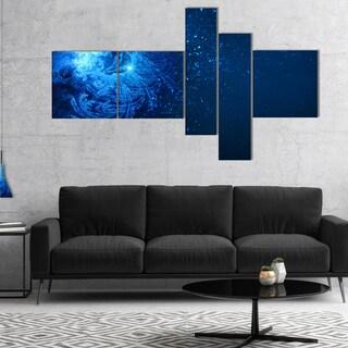 Designart 'Blue Falling Snow' Abstract Canvas art print