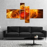 Designart 'Yellow Fractal Desktop' Abstract Canvas art print