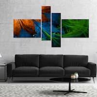 Designart 'Fractal Flower Orange and Blue' Floral Art Canvas Print