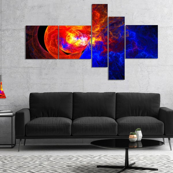 Designart 'Sunrise on a Distant Planet' Abstract Canvas art print
