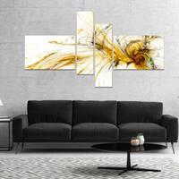 Designart 'Yellow Spiral Galaxy' Abstract Canvas art print