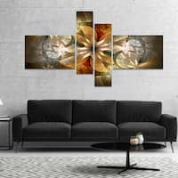 Designart 'Fractal Flower with Blue Details' Floral Art Canvas Print