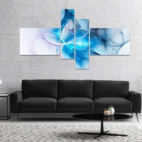 Designart 'Blue Nebula Star' Abstract Canvas art print