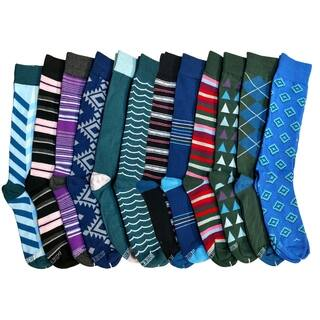 12 Pairs of Colorful Patterned Mens Dress Socks Pack, Colored Stripes Pattern Men Bulk Sock Fashion Designs https://ak1.ostkcdn.com/images/products/17013292/P23293900.jpg?impolicy=medium