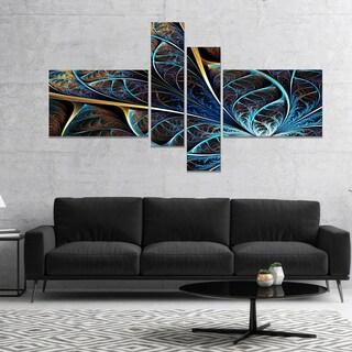 Designart 'Abstract Brown Fractal Flower' Floral Art Canvas Print