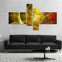 Designart 'Bright Yellow Stormy Sky' Abstract Canvas art print