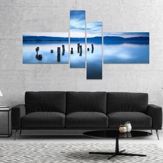 Designart 'Cloudy Sky Above Lake' Seascape Canvas Art Print