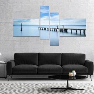Designart 'Bright Sky and Blue Sea' Seascape Canvas Art Print