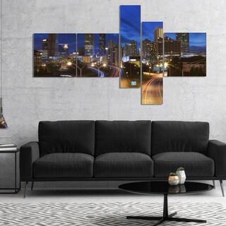 Designart 'Atlanta Skyline Twilight Blue Hour' Cityscape Canvas Print (2 options available)