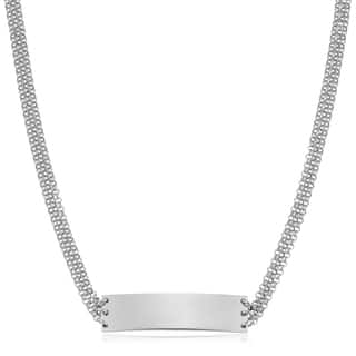 Fremada Italian Rhodium Plated Sterling Silver Multi Strand Rolo Bar Choker Necklace (adjusts from 13 - 15 inches)|https://ak1.ostkcdn.com/images/products/17013429/P23293716.jpg?impolicy=medium
