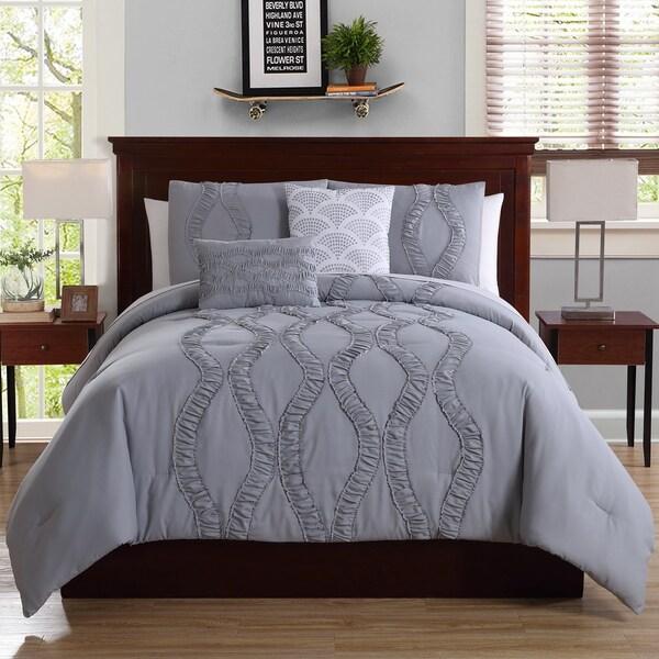 White Birch Megan Technique 5-Piece Comforter Set