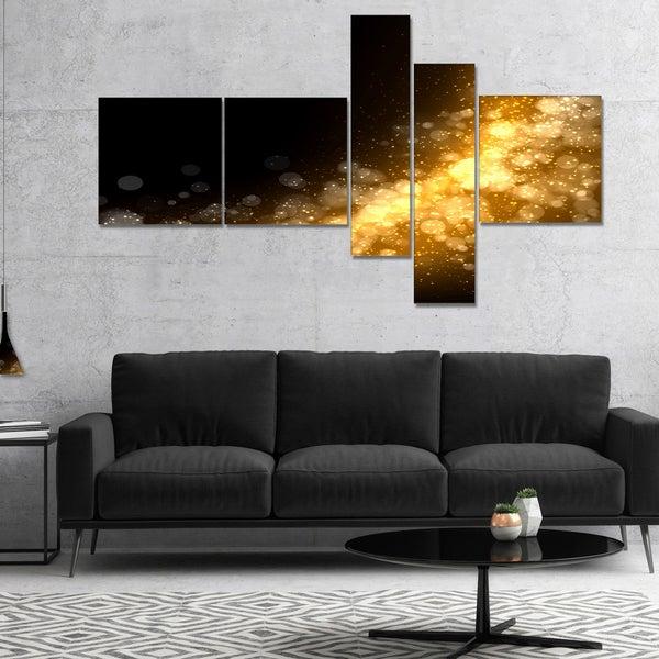 Designart 'Dark Gold Texture Pattern' Abstract Canvas art print