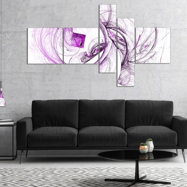Designart 'Billowing Smoke Purple' Abstract Canvas art print
