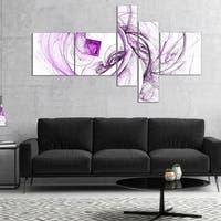 Designart 'Billowing Smoke Purple' Abstract Canvas art print
