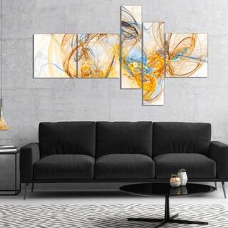 Designart 'Billowing Smoke Yellow' Abstract Canvas art print