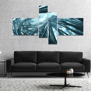 Designart 'Fractal 3D Stripes Everywhere' Abstract Canvas Art Print