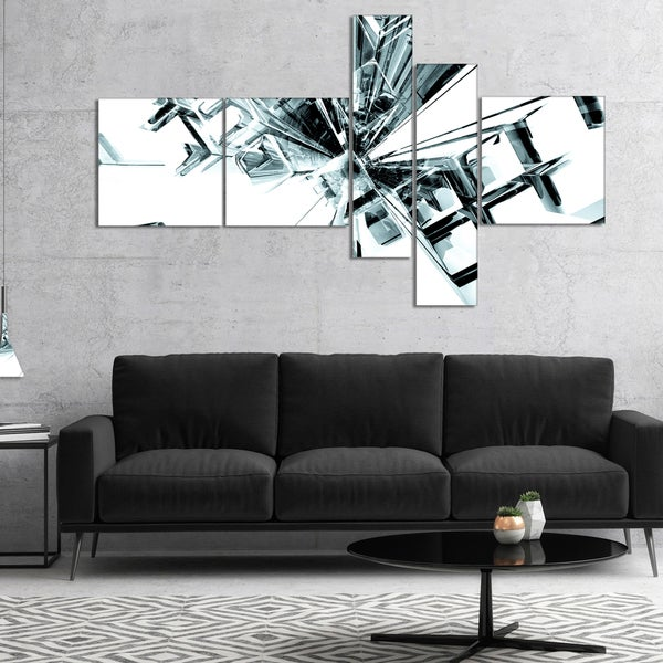 Designart 'Fractal 3D Cubes Everywhere' Abstract Canvas Art Print