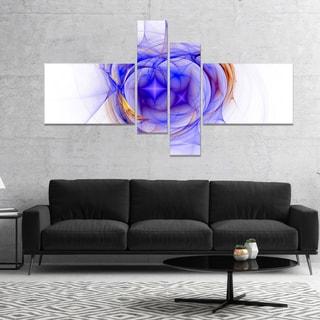 Designart 'Blue Bright Star Nebula' Abstract Canvas art print