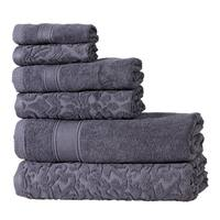 Intradeglobal's  Premium Cotton 6 Pc Bath Towel Set Perfect for Home, Bathrooms, Pool and Gym