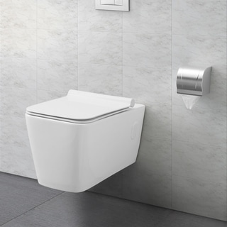 Swiss Madison® St Tropez® Wall Hung White Toilet Bowl