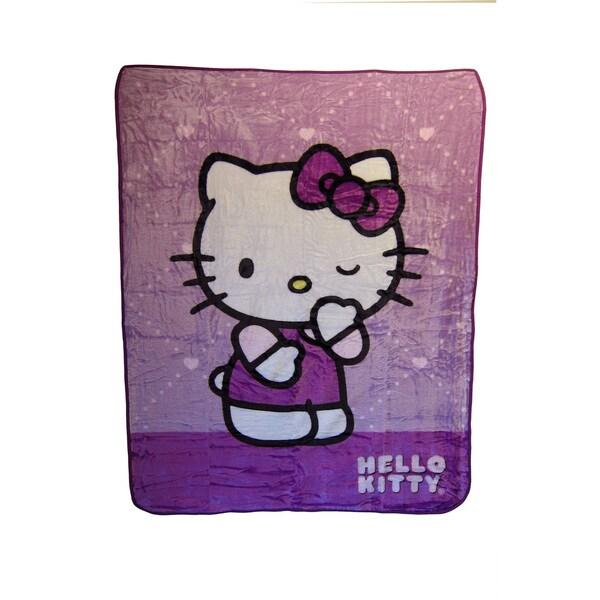 """Hello Kitty """"Wink Wink"""" Blanket"""