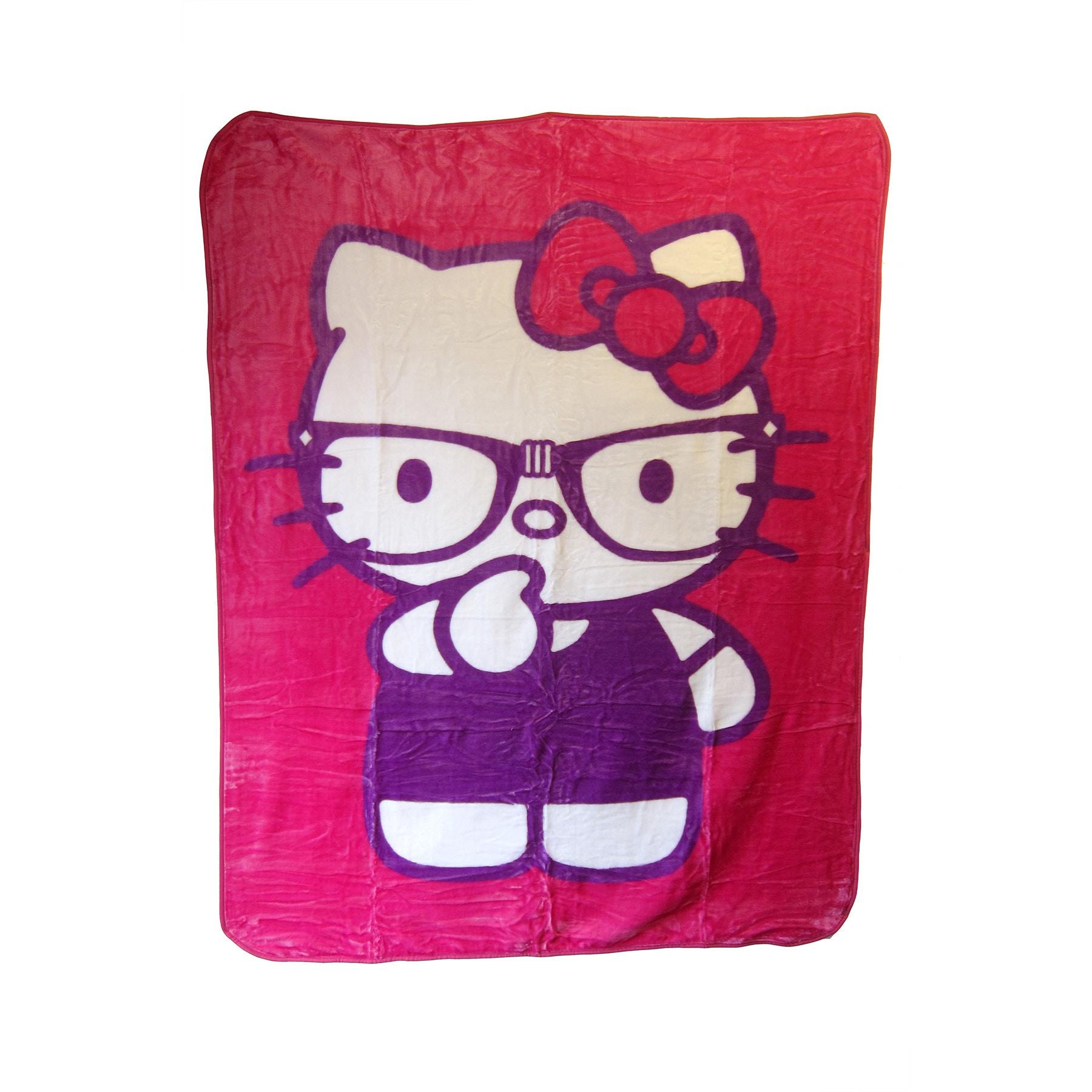 Hello Kitty Thinking Nerd' Blanket (Thinking Nerd), Pink,...