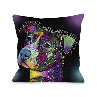 In A Perfect World 16 or 18 Inch Throw Pillow by Dean Russo