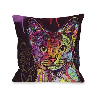 Abyssinian 16 or 18 Inch Throw Pillow by Dean Russo