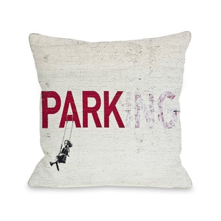 Parking 16 or 18 Inch Throw Pillow by Banksy