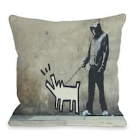 Choose Your Weapon 16 or 18 Inch Throw Pillow by Banksy