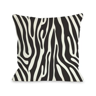 Raffi Zebra - Black White 16 or 18 Inch Throw Pillow by OBC