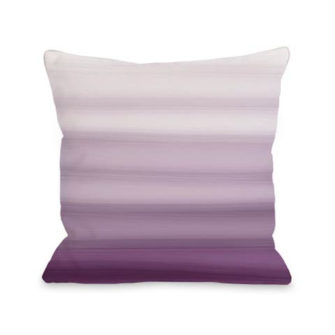 Ombre Watercolors - Purple 16 or 18 Inch Throw Pillow by OBC