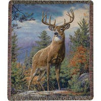 Manual Woodworkers Standing Proud Multi Color Tapestry Throw