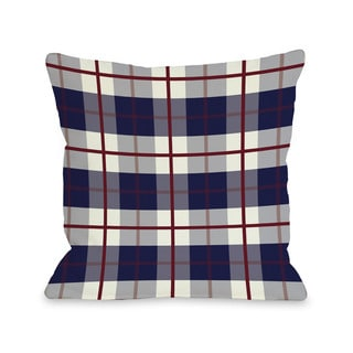 American Plaid 16 or 18 Inch Throw Pillow by OBC