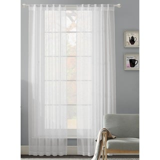 Fantasy Rhinestone Rod Pocket Back Tab Curtain Panel Pair