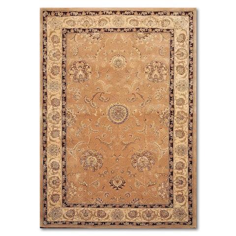 "Ornamental Hand Made Nourison Persian Oriental Rug Design 2206 CAM - Coral/Beige - 5'6"" x 8'6"" - 5'6"" x 8'6"""