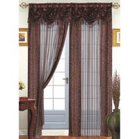 Tango Single Sheer Curtain Panel with Valance