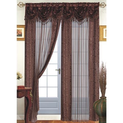 Tango Single Sheer Curtain Panel with Valance