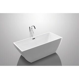 "Tarnby 67"" Rectangular Acrylic Freestanding Bathtub"